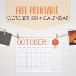 FALL FREEBIE – October 2014 Calendar