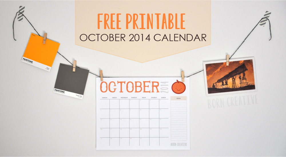 FALL FREEBIE – October 2014 Calendar