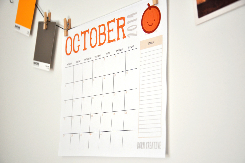 Freebie - October 2014 Calendar Download