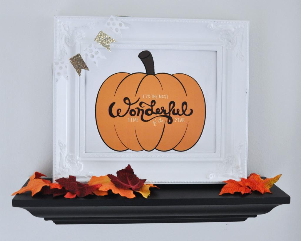 Fall Pumpkin Hand-drawn Typography