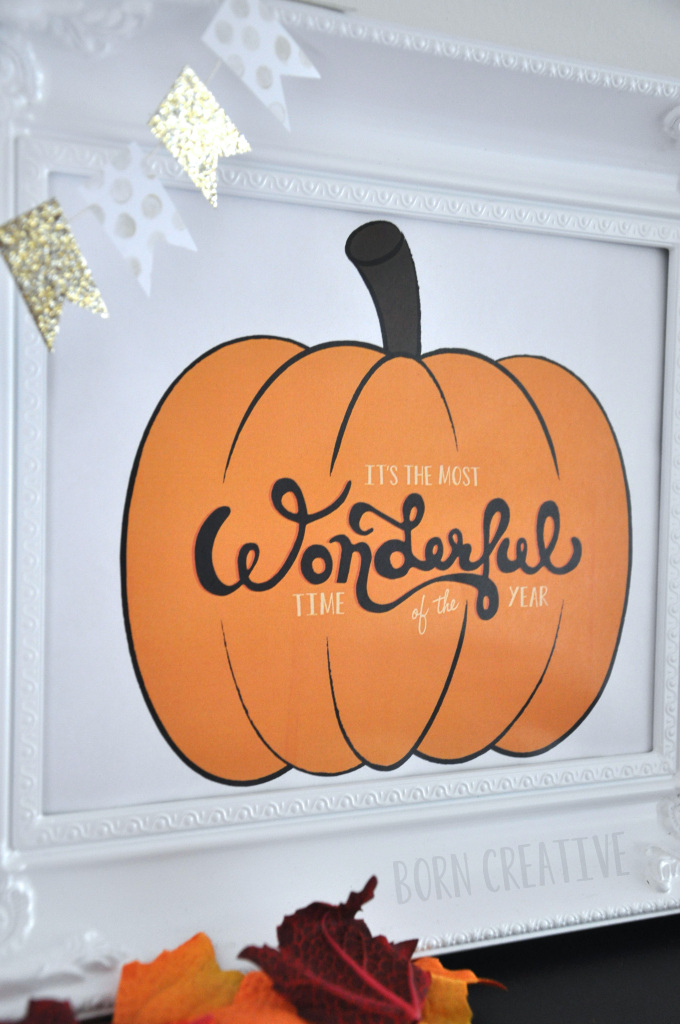 Fall Pumpkin Typography