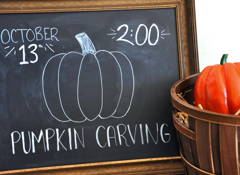 Fall Chalkboard Typography
