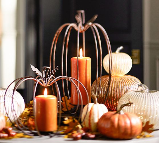 Pottery Barn's Pumpkin Wire Candle Holders