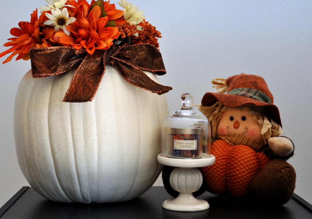 Styled Shelf Affordable Fall Decorations
