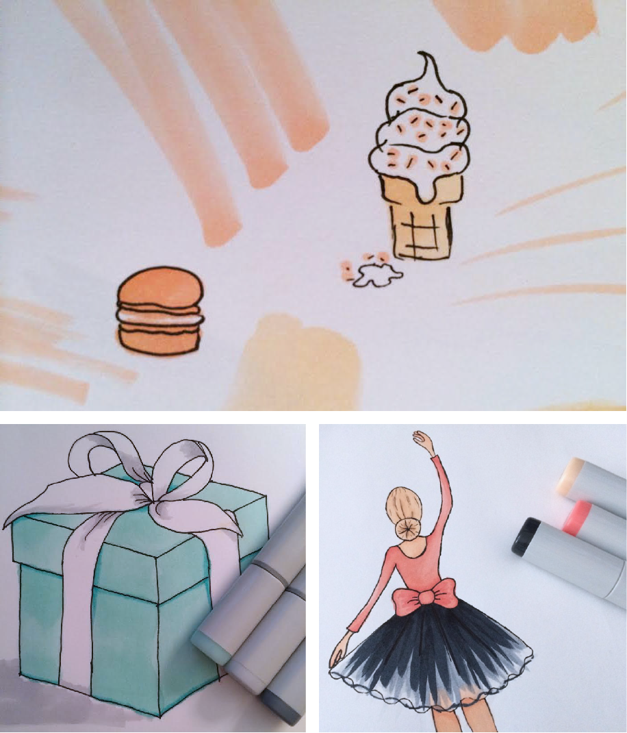 Copic Art using Copic Sketch Markers