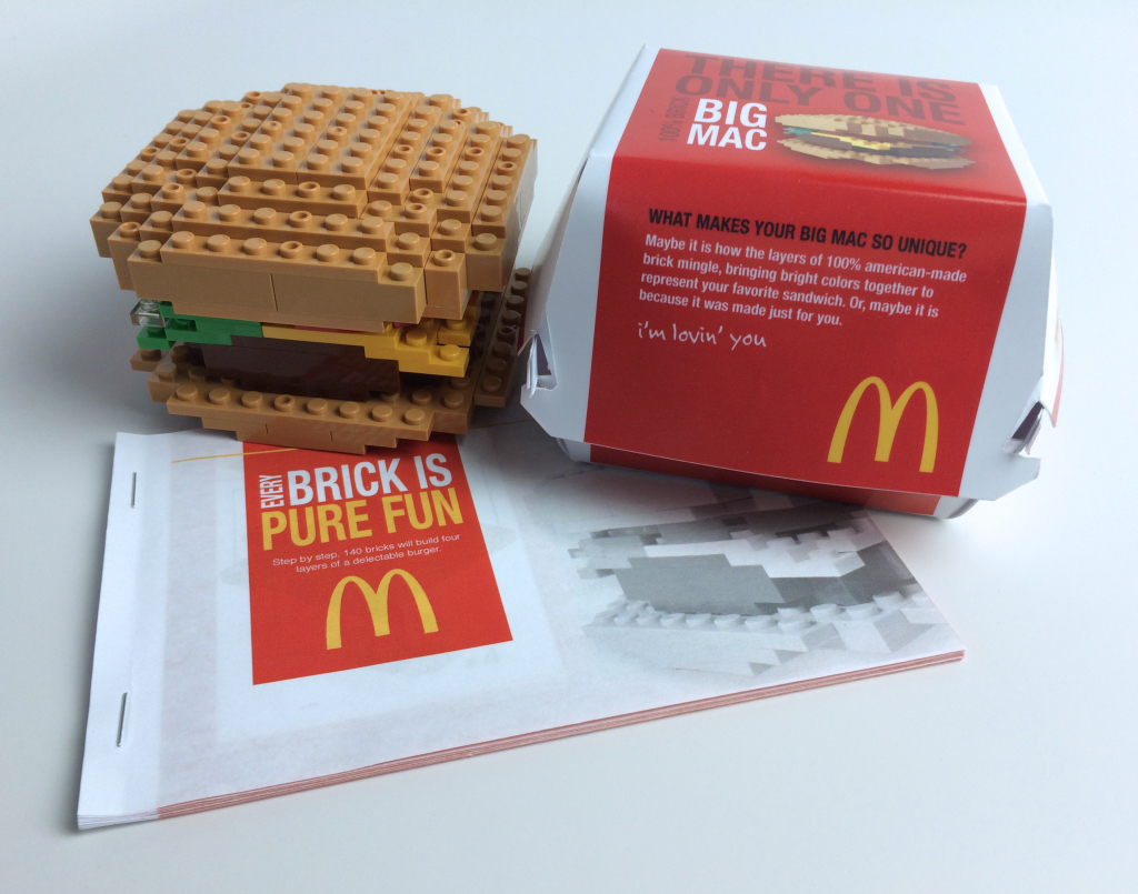 LEGO Burger Packaging & Instructions