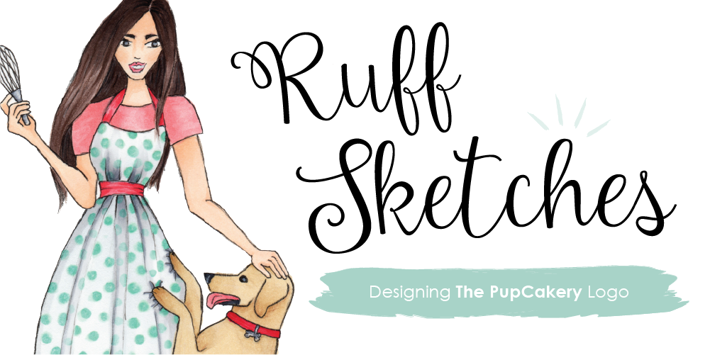 Ruff Sketches | The PupCakery Logo