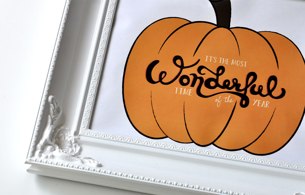 Fall Freebie | Pumpkin Typography Print