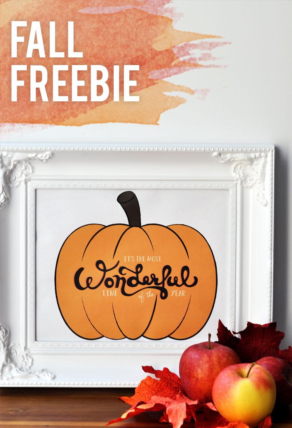 Fall Freebie - Pumpkin Typography Art Print