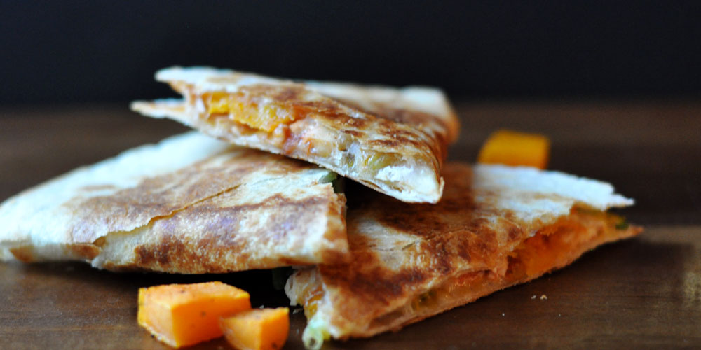 Roasted Butternut Squash Quesadilla