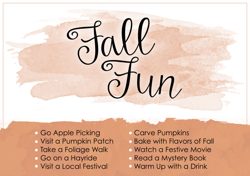 No Worries Weekend - List of Fall Fun Activities to live in the moment