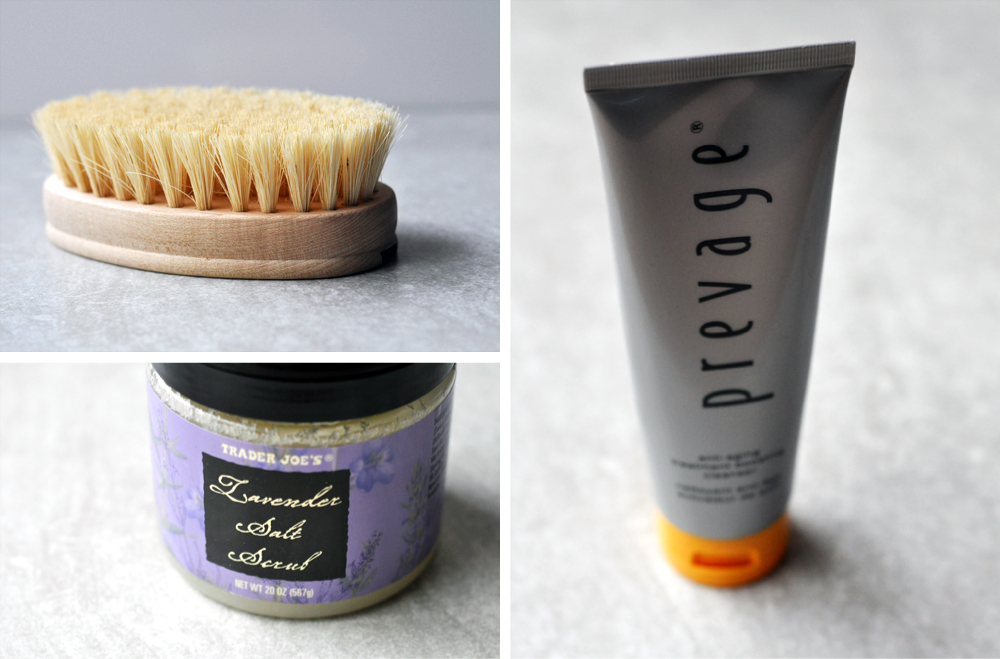 Trick or Treat Yourself - My skincare pamper routing steps 1 - 3 are dry brush and exfoliate