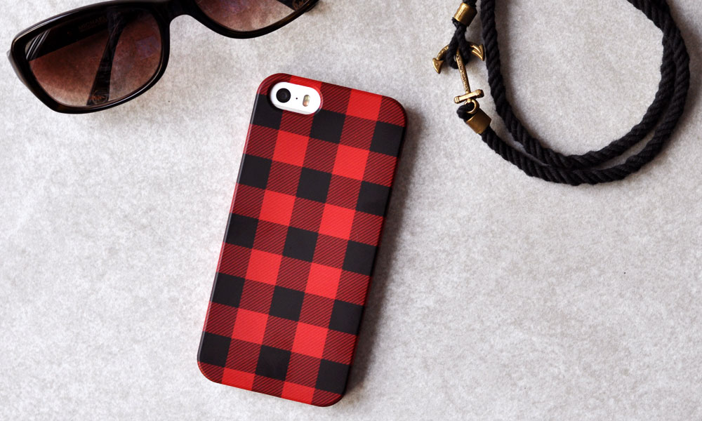 Custom Plaid iPhone Case made with CaseApp plus GIVEAWAY!