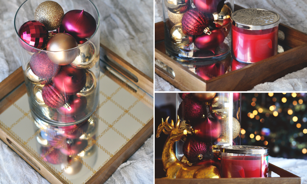 Wooden Holiday Trays filled 2 Different Ways - Step by Step Decorating