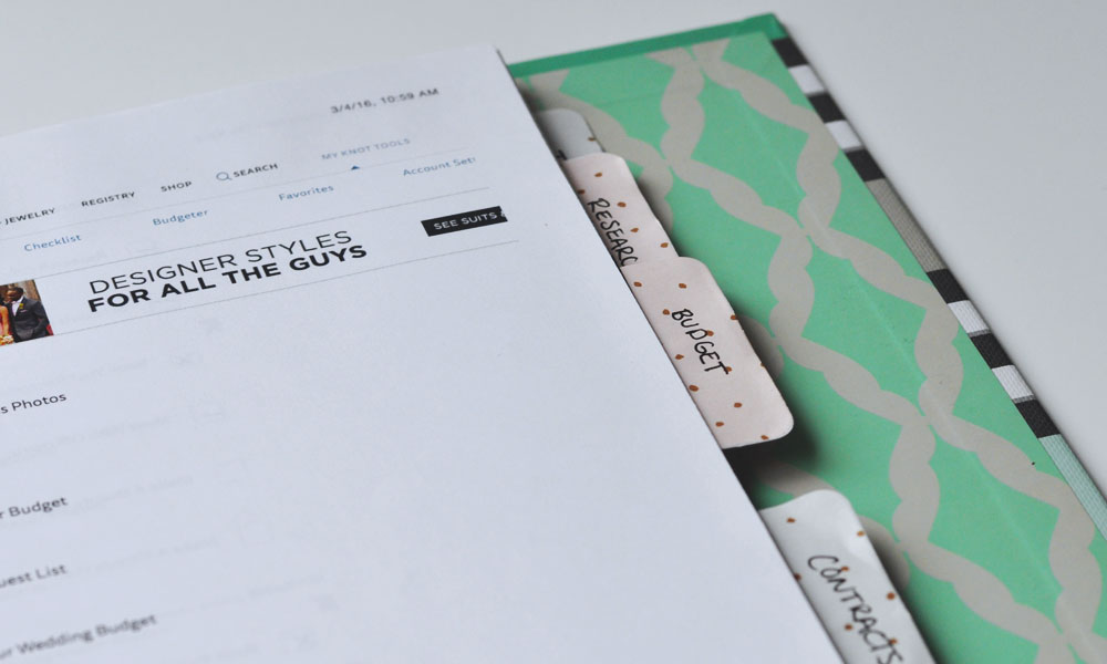 Staying Organized while Wedding Planning - Categorize & File Away!